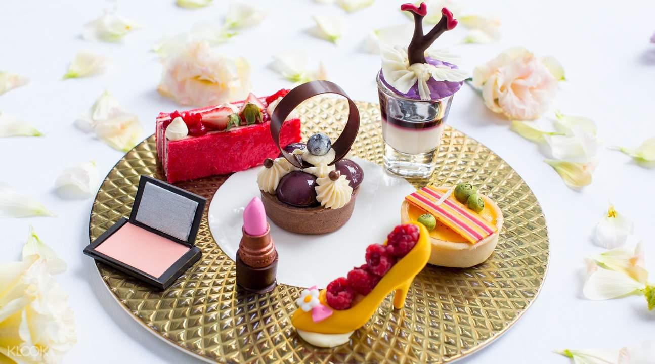 [Photo 3] Make up inspired sweet desserts at Lobby Lounge at Shangri-La Hotel Bangkok